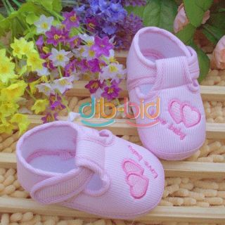 Cute Heart Style Baby Infant Toddler Unisex Soft Sole Anti Slip Socks Kids Shoes