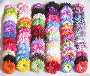 "Wholesale 10TO100PCS 4"" Gerber Daisy Flower Hair Gem Bow Clip Girl Baby Clothes"
