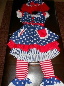 Girls Raggedy Ann Halloween Costume Size 5 6 7 8 See Measurements Adorable