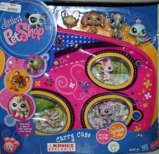 Hasbro Littlest Pet Shop Carry Case Includes 7 Pets 1714 1720