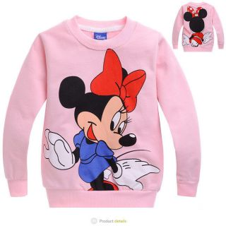 New Minnie Mouse Kids Toddler Girls Long T Shirts Coat Size 110 4 5 Years