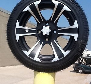 Golf Cart Wheel and Tire Combo 14 inch STI Brand Fits Club Car E Z Go RXV Carts
