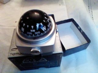 Vintage Boxed Airguide Nomad Auto Boat Self Illuminated Compass 79C Model Unused