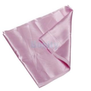 15 Pcs Satin Table Runners Wedding Party Decor Chair Sash Bow Tie Pale Pink