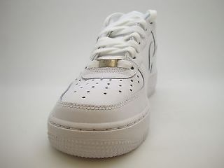 314192 117 Boys Youth Nike Air Force 1 White Uptown Sneakers