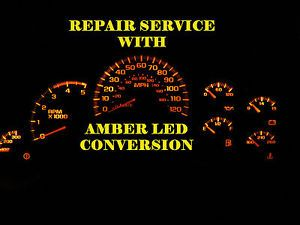 GM Chevy Silverado Speedometer Instrument Cluster Gauge Repair w Amber LEDs