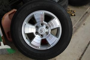 "17"" Toyota Tacoma Stock Wheels Rims Tires Lug Nuts  No TPMS"
