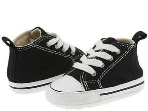 Converse Black Baby Boy First Star Crib Shoes 1 2 3 4