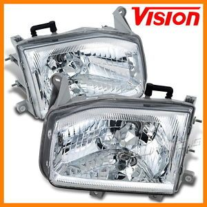 1998 2004 Nissan Pathfinder JDM Clear Style Replacement Diamond Cut Head Lights