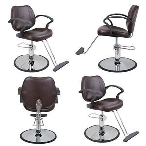 4 x New Beauty Salon Equipment Brown Hydraulic Styling Chair Package SC 21 BR