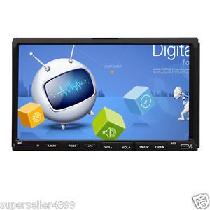 "2 DIN 7"" Car Indash DVD CD  Player LCD Touch Screen"