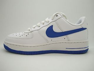 314192 145 Boys Youth Nike Air Force 1 White Varsity Royal Uptowns Classic