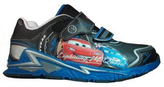 Disney Car Boys Sneakers Shoes Size 12 Light Up Velcro New