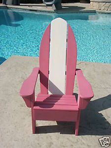 Pottery Barn Kids Adirondack Chair Surf Outdoor Patio Pool Lounge Chair Pink