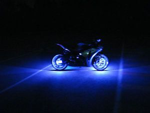 1 Blue LED Motorcycle Wheel Pod Light Neon Glow Custom Rim Accent Bike Ace RR