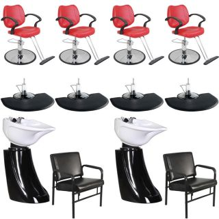 New Beauty Salon Equipment Styling Chair Mat Shampoo Bowl Sink Package EB 45B