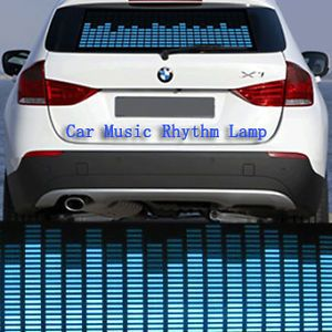 Sound Activated Music Rhythm LED Light Lamp Car Sticker Equalizer Blue 90x25cm