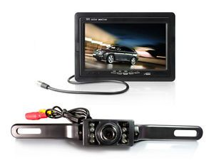 "TaoTronics 7"" TFT LCD Car Monitor w Rear View License Mount Backup Camera"
