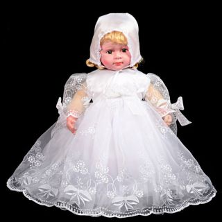 Infant Baby Girl Baptism Christening Dress Gown Bonnet Occasion Age 0M 12M 157