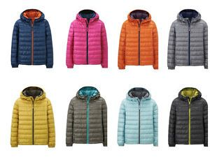 Childrens Kids UNIQLO Down Puffy Hooded Jacket Puff New 2014 See Video Light