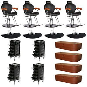 New Salon Equipment Styling Chair Mat Wall Mount Station Trolley Package DP 70E