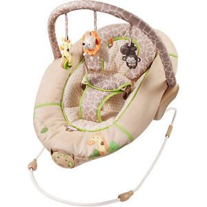 Carters Child of Mine Neutral Jungle Safari Baby Bouncer Bounce Chair Seat New