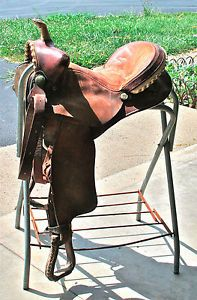 Vintage Western B w Saddlery Barrel Racing Saddle 16 inch Seat Light Oil