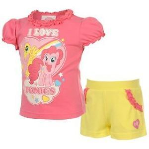 My Little Pony Girls Outfit Shorts Top or Tunic Leggings 12 18 2 3 4 Years