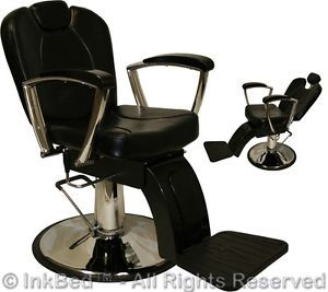 Inkbed Tattoo Hydraulic Reclining Barber Chair Recline Ink Bed Salon Equipment