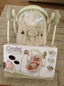 Bright Starts Comfort Harmony Sandstone Portable Baby Swing Chair