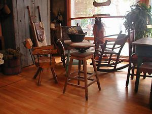 H Krug Industrial Machine Age Mission Architect Drafting Bar Office Stool Chair