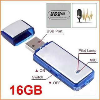 New 2in1 16GB Digital Audio Voice Recorder USB Flash Memory Drive Disk
