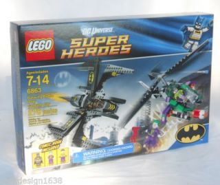 New Lego Batwing Battle Gotham City 6863 278 PC w Batman Joker Henchman Figures