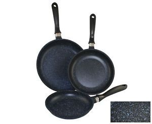 Concord Marble Coated Cast Aluminum Super Non Stick Fry Pan Cookware 3 Sz