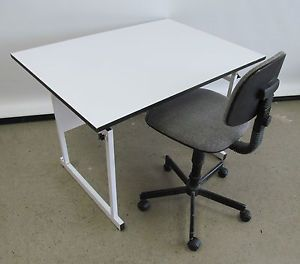"42"" x 31"" Drafting Table Art Crafts Drawing Table Drafting Table w Chair"