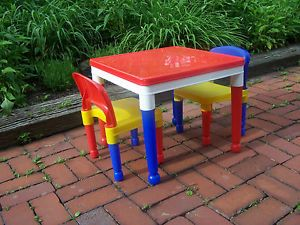 Child Preschool Lego Duplo Building Block Puzzle Play Table Chairs