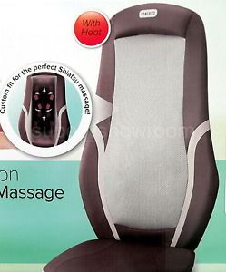 New Homedics Shiatsu Back Massage Cushion for Chair with Heat 3 Style Massager