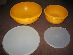 Tupperware Large Fix N Mix Large Mixing Bowl 26 12 Cups Maize Yellow Lids