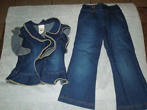 New Custom Made Denim Pageant Casual Wear 4 5 2 PC Set
