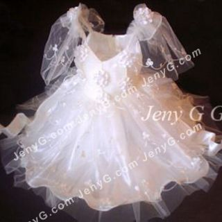 352 Flower Girls Communions Party Holiday Pageant Gown Dress Ivory 0 5 Years