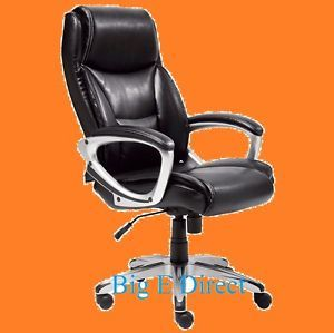 Office Bonded Leather Manager Executive High Back Computer Chair Heavy Duty Base