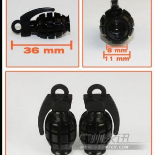 4 x Black Bomb Grenade Wheel Tyre Tire Valve Stems Caps Dust Covers for Nissan