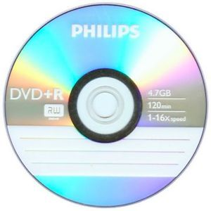 500 Philips Logo 16x DVD R DVDR Blank Recordable Disc Media 4 7GB