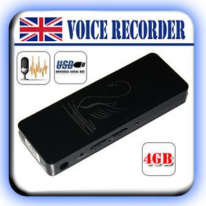 Rec 4GB Dictaphone USB Pen Drive Memory Stick Digital Audio Voice Recorder Black