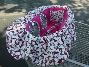 Hello Kitty Hot Pink Leopard Shopping Cart Cover High Chair Cover