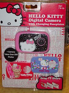 Hello Kitty Kids Digital Camera with Changing Faceplates SEALED