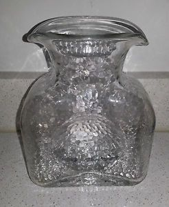 Clear Blenko Water Pitcher Decanter Double Spout