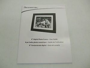 Pandigital Picture Frame Owners Manual Guide 8 inch P18056W01B Digital