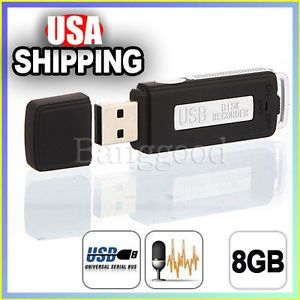 8GB USB Digital Audio Spy Voice Recorder Pen Disk Flash Drive 150 Hrs Recording