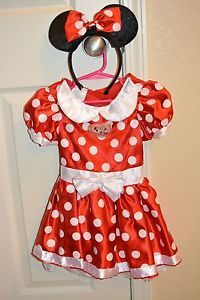 Cute Minnie Mouse Red Tutu Dress Toddler Halloween Costume Girls 2T 4T Headband